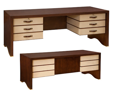 Emerson Bentley - Leighton Walnut and Leather Desk - 12103