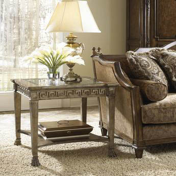 Fine Furniture Design - Chairside Table with Glass Top - 1151-960