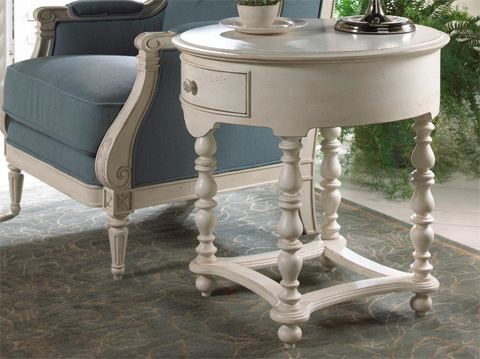 Fine Furniture Design - White Summer Home End Table - 1051-964
