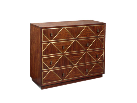 Fine Furniture Design - Drawer Chest with Triangle Accents - 1360-946