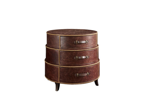 Fine Furniture Design - Leather Wrapped End Table - 1160-980
