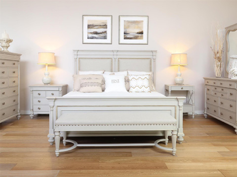 Fine Furniture Design - Brookston King Upholstered Bed - 1511-467U/468/469