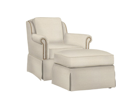 Fine Furniture Design Upholstery - Ottoman - 5027-04