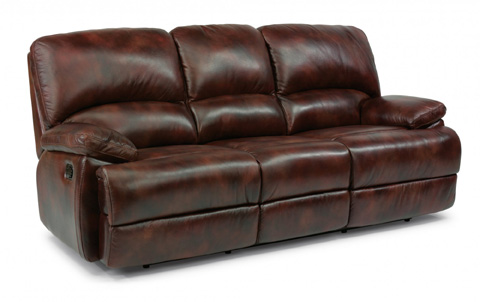Flexsteel - Three Seat Motion Leather Sofa - 1127-630