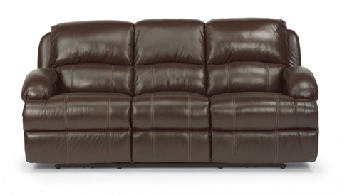Flexsteel - Power Reclining Leather Sofa - 1242-62P