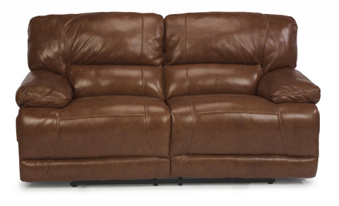 Flexsteel - Power Reclining Leather Loveseat - 1237-60P
