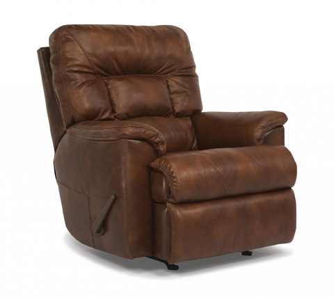 Flexsteel - Great Escape Brown Rocking Leather Recliner - 1221-510