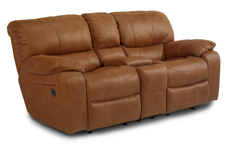 Flexsteel - Power Fabric Loveseat with Console - 1541-604P