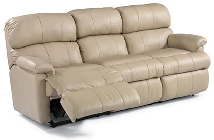 Flexsteel - Chicago Leather Double Reclining Sofa - 3066-62