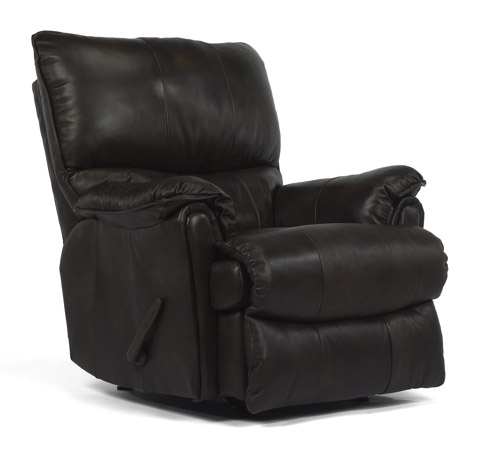 Flexsteel - Stockton Rocking Leather Recliner - 1217-510