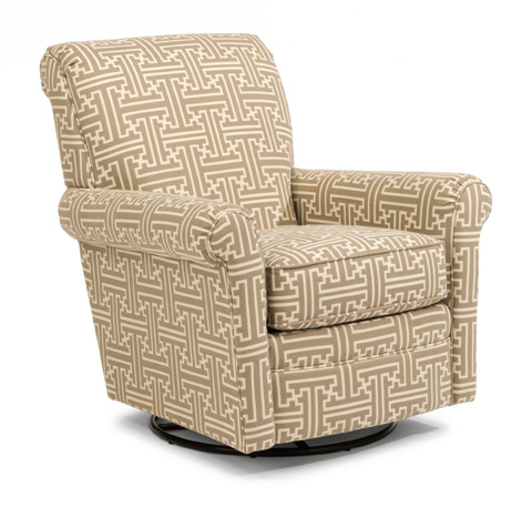 Flexsteel - Plaza Fabric Swivel Glider without Nails - 050C-13