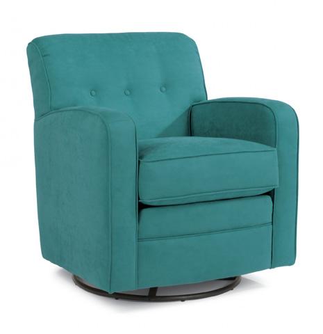 Flexsteel - Lavender Fabric Swivel Chair - 0650-13