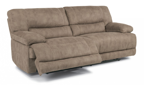 Flexsteel - Delia Fabric Power Reclining Sofa - 1458-62P