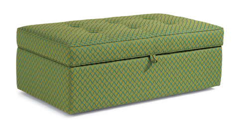 Flexsteel - Daphne Fabric Rectangular Storage Ottoman - 7408-091S