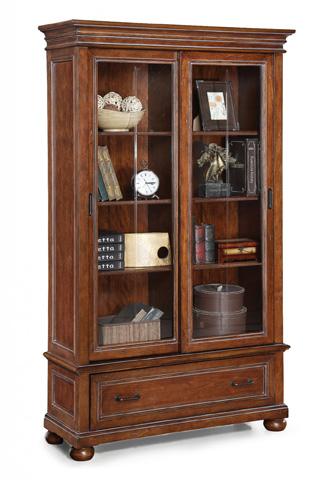 Flexsteel - American Heritage Sliding Door Bookcase - W1209-708