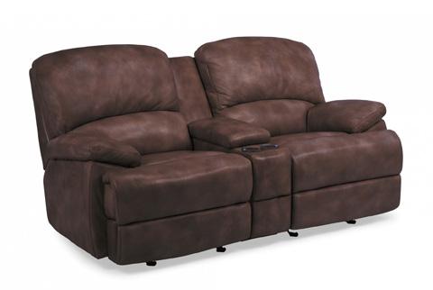 Flexsteel - Leather Power Chaise Reclining Loveseat - 1127-604P