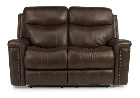 Flexsteel - Leather Power Reclining Loveseat - 1339-60P