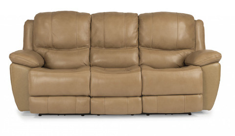 Flexsteel - Leather Power Reclining Sofa - 1491-62P