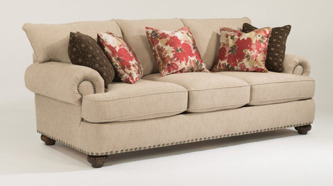 Flexsteel - Fabric Sofa with Nailhead Trim - 7322-31