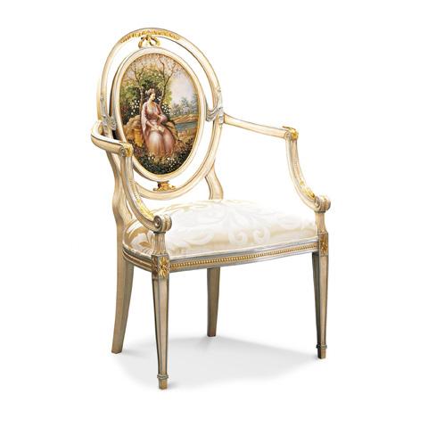 Francesco Molon - Handpainted Accent Arm Chair - P309