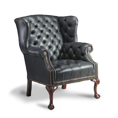 Francesco Molon - Leather Wing Chair - P82
