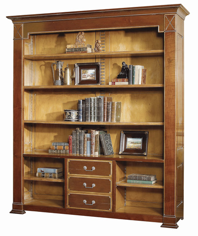 French Heritage - Plaza Open Bookcase with Drawers - A-2349-401-ANSB