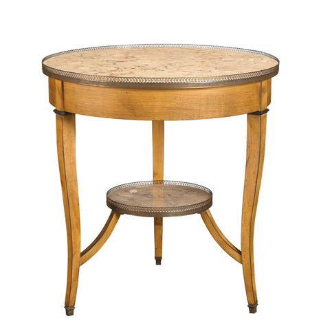 French Heritage - Courselles Round Marble Top Side Table - A-2442-402-MACH