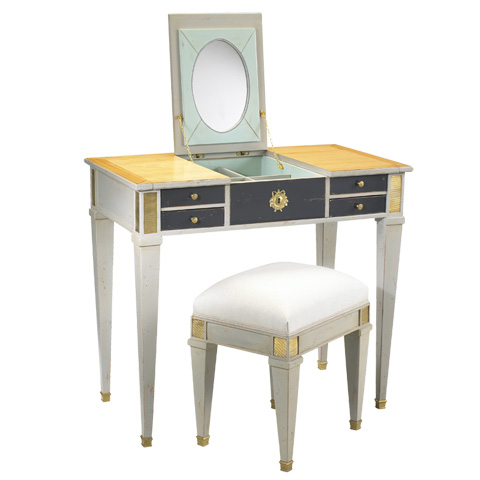 French Heritage - Aubin Vanity and Stool - M-1546-401-SBSM