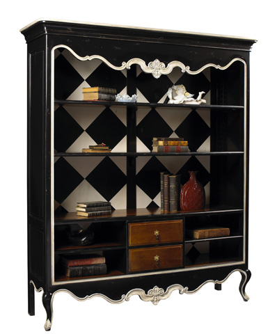 French Heritage - Anslot Open Bookcase Display Cabinet - M-1549-402-BKIV