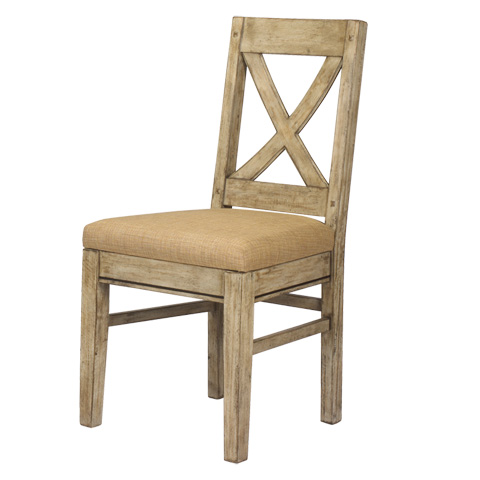 French Heritage - Pyrenees Cross Back Side Chair - M-2528-1101-DRC