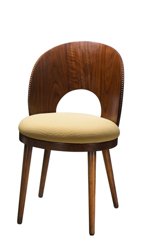 French Heritage - Dian Walnut Curved Side Chair - M-7528-201-WAL
