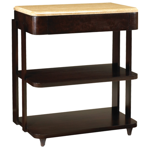 French Heritage - La Coupole 3-Tier End Table with Stone Top - M-7541-201-ESPR