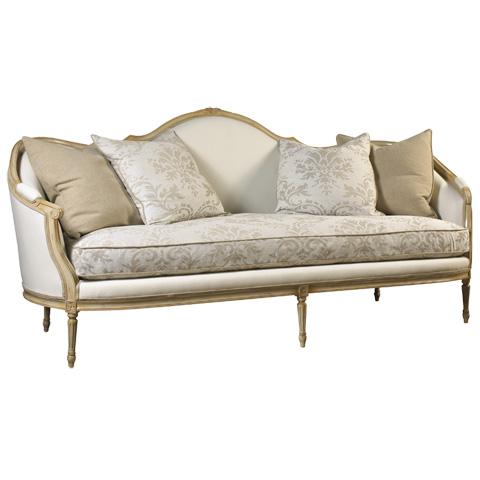 French Heritage - Cybil Camel Back Sofa - U-RG-4070-0896