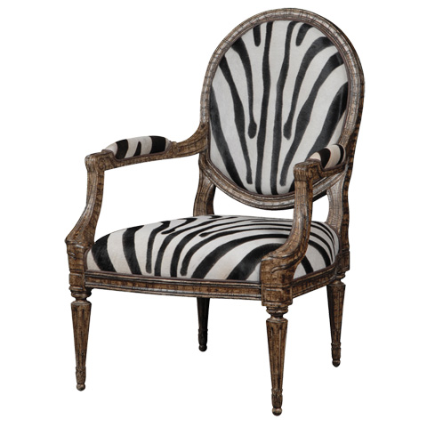 French Heritage - Antonne Oval Back Accent Chair - U-RG-4076-1628