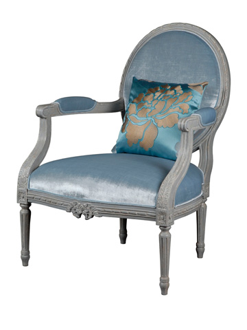 French Heritage - Gardanne Oval Back Accent Chair - U-RG-4076-1928