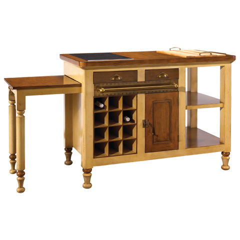 French Heritage - Gourmet Kitchen Island in Ivory - M-FL39-199-IVO