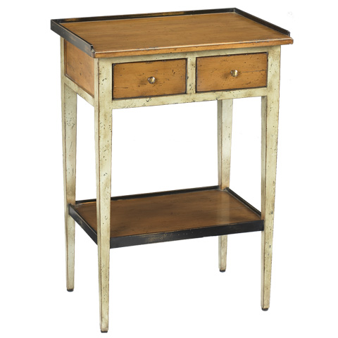 French Heritage - Accent Table in Gray - M-FL41-090-GRY