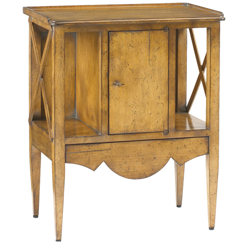 French Heritage - Storage Accent Table - M-FL41-254-LTCH