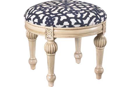 French Heritage - Ange Round Footstool - U-3074-0418