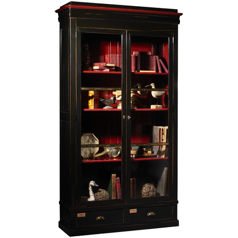 French Heritage - Two Door Cabinet De Curiosities - A-4222-404-BLACK