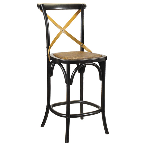 French Heritage - Bosquet Barstool - M-2436-1001-BLK