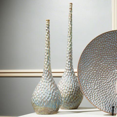 Global Views - Large Chiseled Bird's Egg Vase - 1623