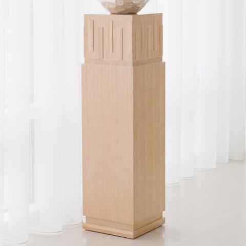 Global Views - Light Limed French Key Pedestal - 2369