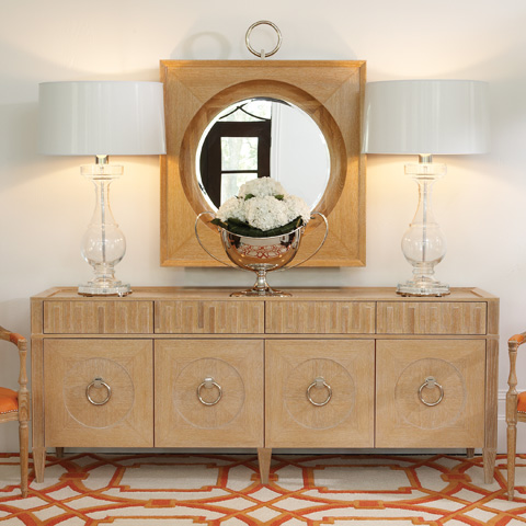Global Views - Light Limed French Key Everything Cabinet - 2371