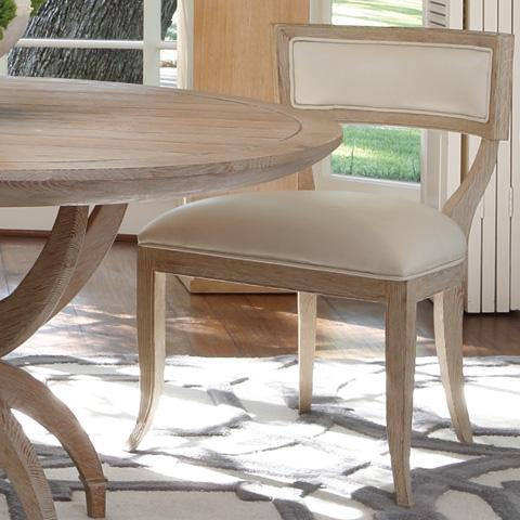 Global Views - Beige Leather Klismos Chair - 2428