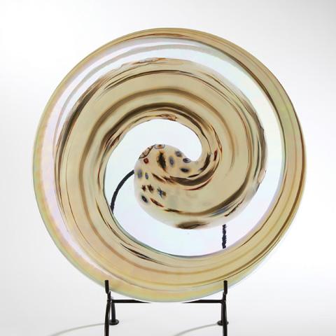 Global Views - Ivory Spiral Flat Plate - 3.30978