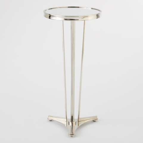 Global Views - Nickel & Mirror French Moderne Side Table - 8.80508