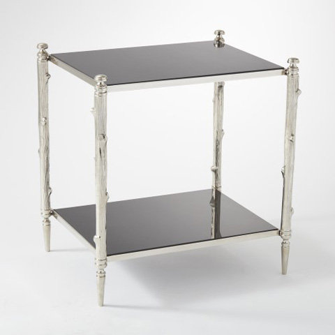 Global Views - Nickel & Black Granite Arbor Side Table - 8.82040