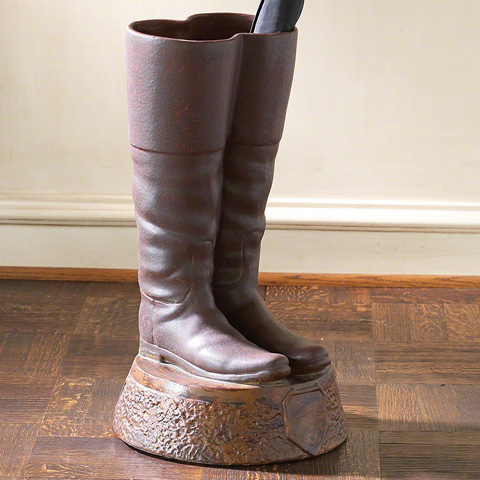 Global Views - Ceramic Boots Umbrella Stand - 8758