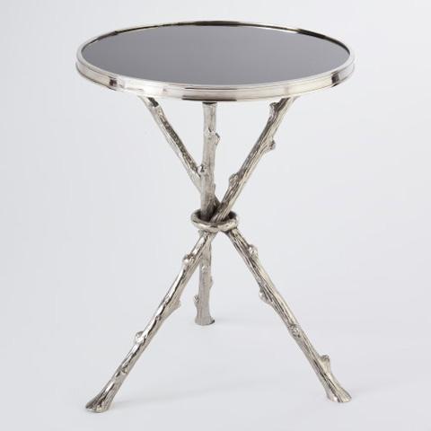 Global Views - Nickel & Black Granite Twig Table - 8977